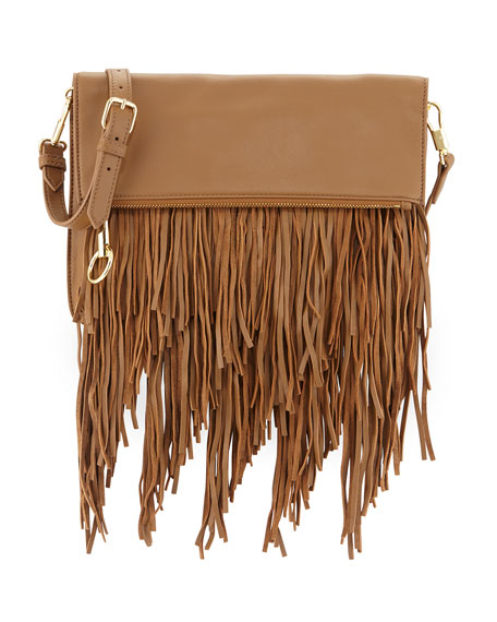 Elizabeth and James Andrew Fold-Over Fringe Clutch Bag,