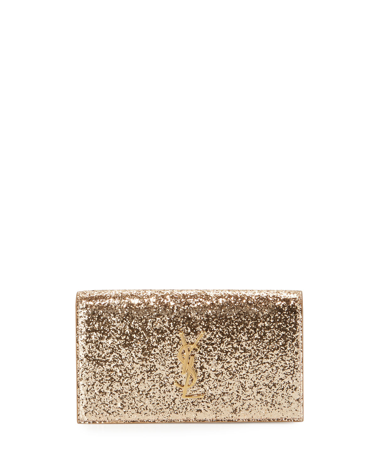 Saint Laurent Monogram Glitter Clutch Bag e5aa3aa36dfd