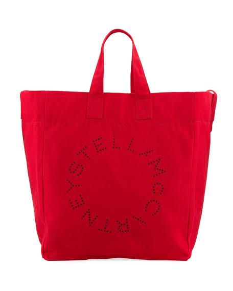 Stella McCartney Animal-Print Canvas Beach Tote Bag