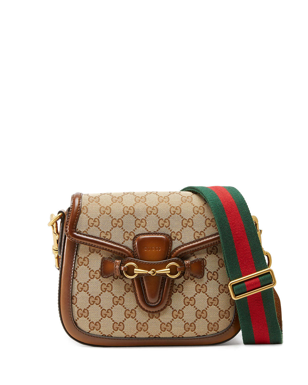 9600e724121f Gucci Lady Web Medium Original GG Canvas Shoulder Bag