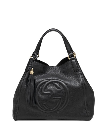 322811c79eb Soho Leather Shoulder Bag, Black