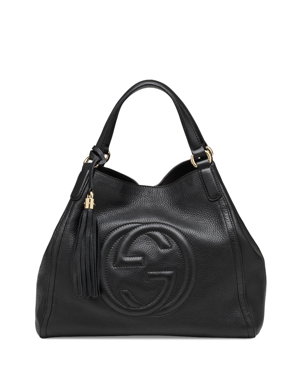 5200775fdd2827 Gucci Soho Leather Shoulder Bag, Black | Neiman Marcus