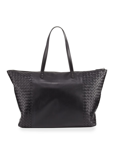 Bottega Veneta Intrecciato Medium East-West Shoulder Tote Bag,