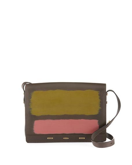 VBH Pulce XL Vitello Leather Crossbody Bag, Brown/Multi