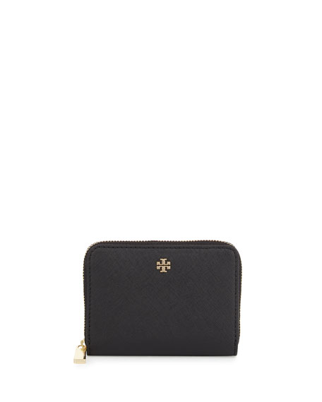 Tory Burch Robinson Zip Coin Case, Black