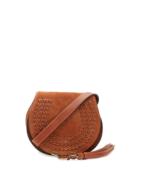 Chloe Marcie Small Suede Crossbody Bag