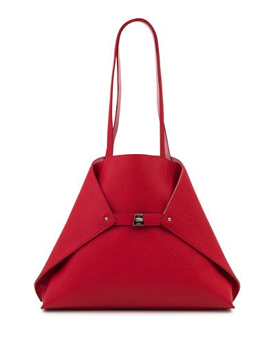 Ai Medium Reversible Colorblock Tote Bag  Red