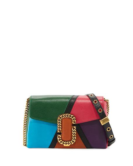 Marc Jacobs St. Marc Colorblock Clutch Bag, Green/Multi