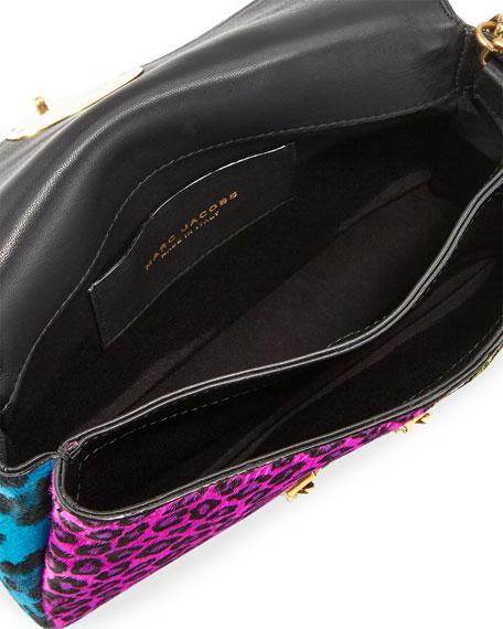 St. Marc Punk Calf Hair Clutch Bag, Black/Multi