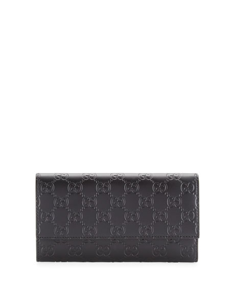 Gucci Gucci Signature Continental Wallet, Black