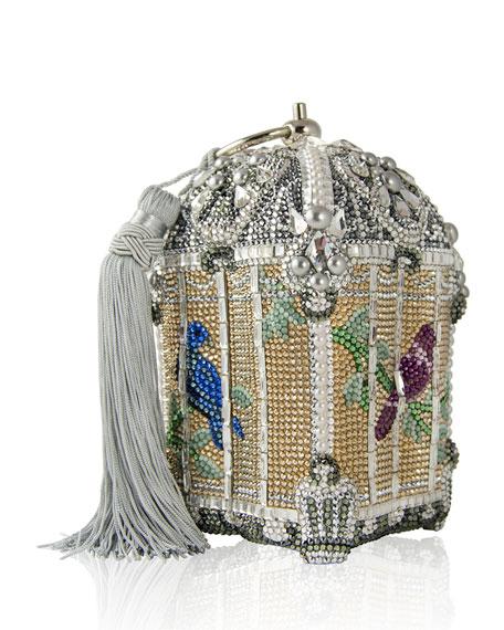 Judith Leiber Couture Crystal-Embellished Birdcage Clutch Bag