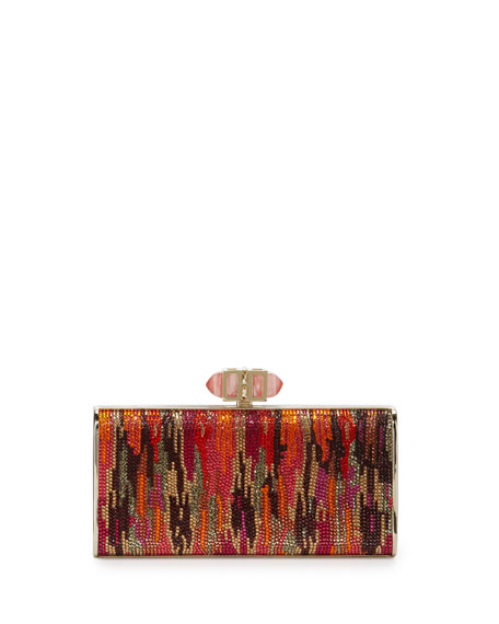 Judith Leiber Couture Singaraja Crystal Evening Clutch Bag,