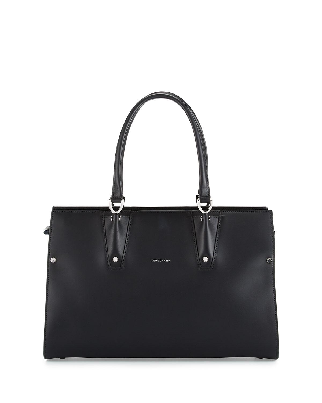 longchamp paris premier large tote bag black neiman marcus. Black Bedroom Furniture Sets. Home Design Ideas