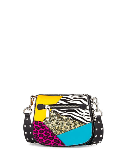 Marc Jacobs Nomad Small Punk Patchwork Saddle Bag,