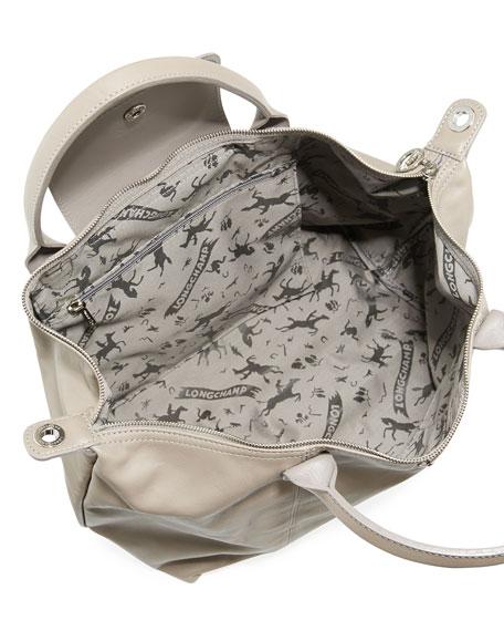 Le Pliage Cuir Medium Tote Bag