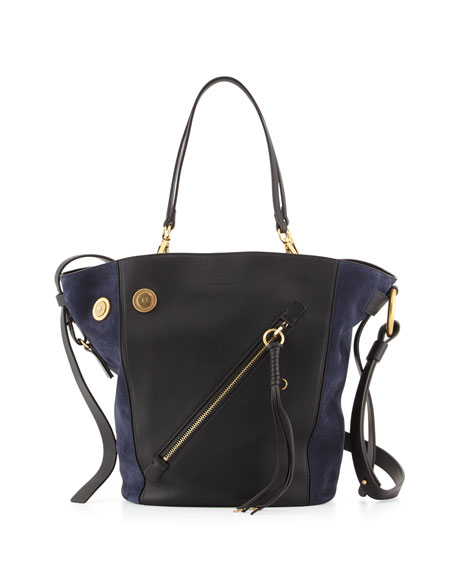 Myer Medium Leather & Suede Tote Bag