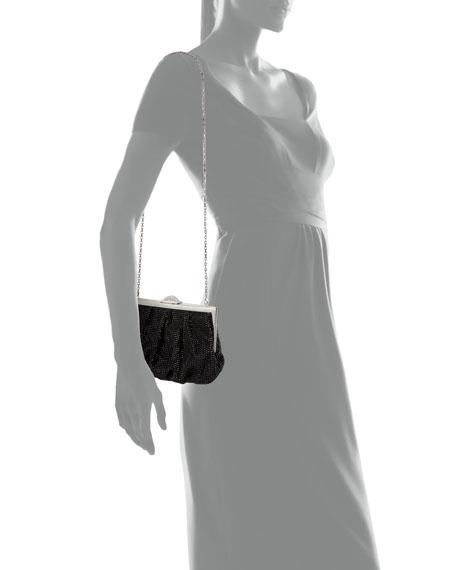 Natalie Full-Bead Foiled Clutch Bag