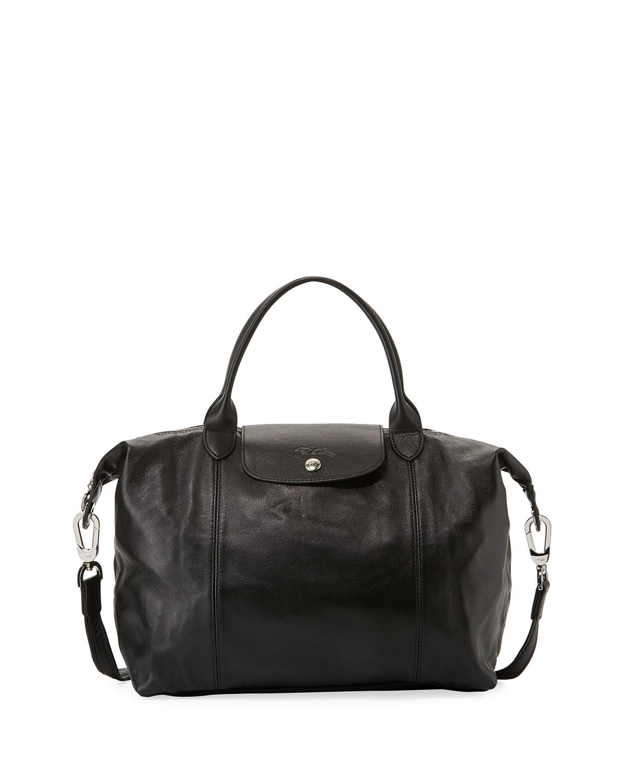 Longchamp Le Pliage Cuir Leather Medium Handbags | IUCN Water