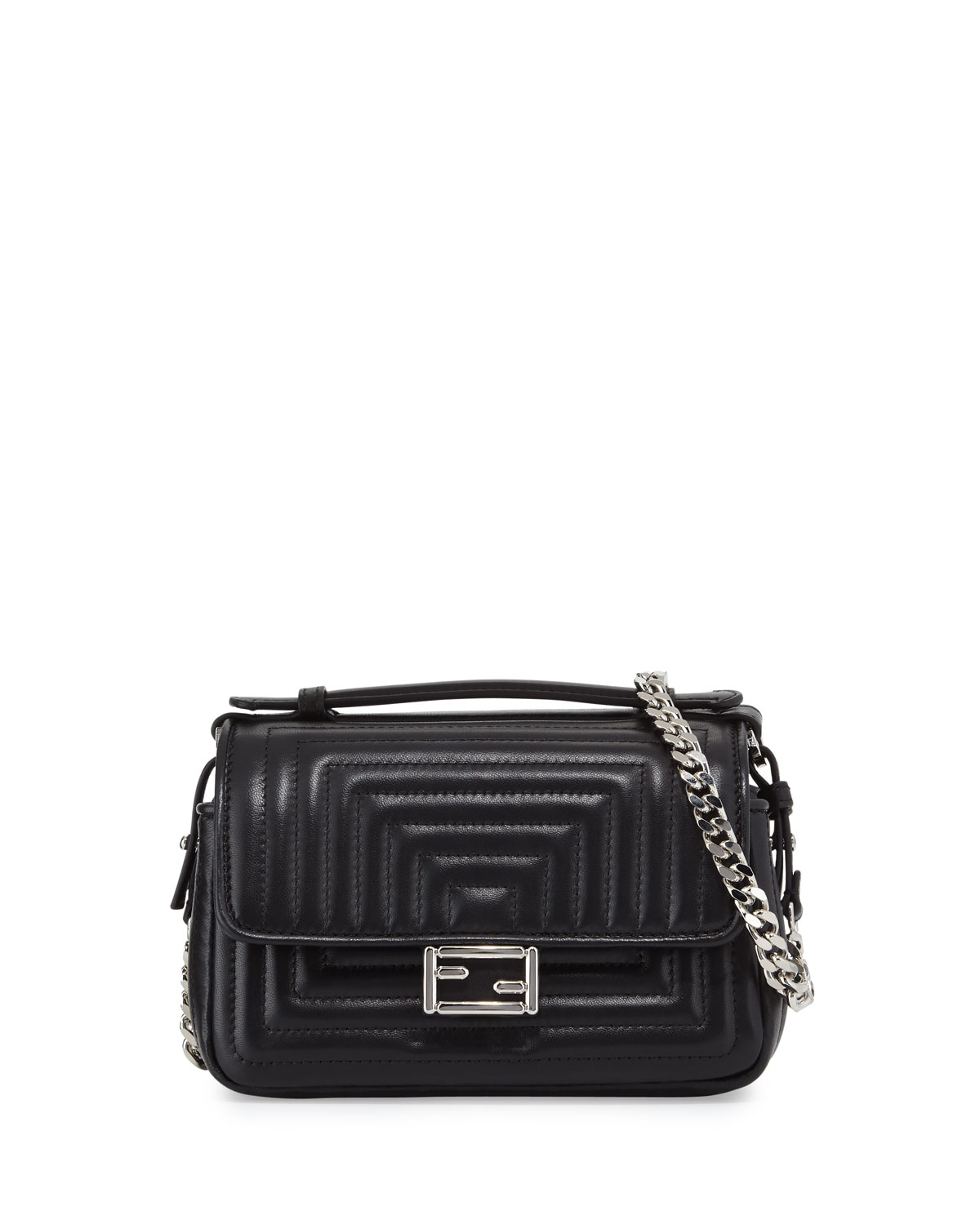 Fendi Baguette Micro Double-Sided Quilted Leather Bag c200bc2a3beed
