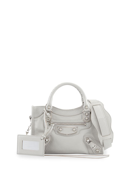 Balenciaga Metallic Edge Classic Mini City Crossbody Bag,