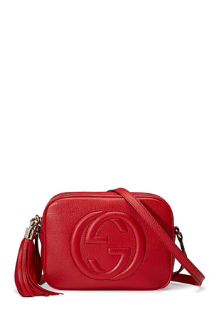 Gucci Soho Leather Disco Bag, Tobasco Red