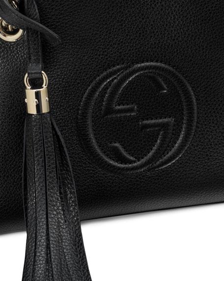 2d1d7f6574e2 Gucci Soho Small Leather Tote Bag w/ Chain Straps, Black | Neiman Marcus