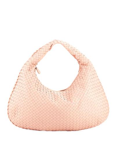 Large Intrecciato Woven Veneta Hobo Bag