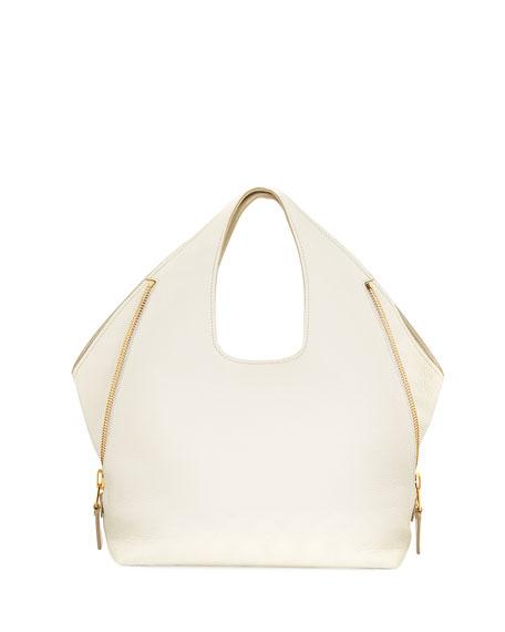 TOM FORD Jennifer Side-Zip Leather Hobo Bag