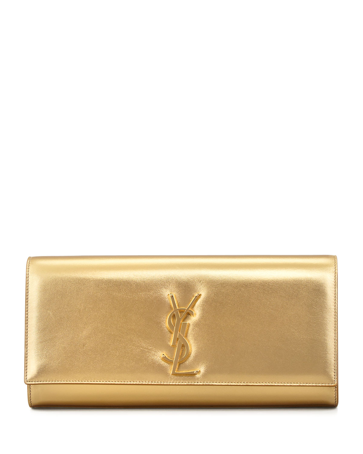 61d6c7532374 Saint Laurent Cassandre Clutch Bag, Gold | Neiman Marcus