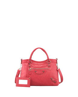 Balenciaga Giant 12 Nickel Town Bag, Rose Thulian