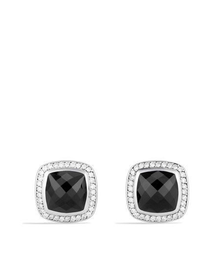 Albion Cuff Links with Black Onyx and Diamonds