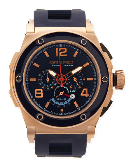 Regatta Yachting Edition Watch, IP Rose-Gold/Blue