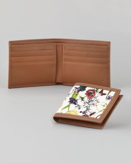 Men's Floral-Print Bi-Fold Wallet