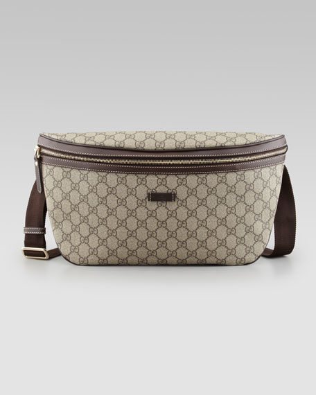 GG Supreme Belt Bag, Beige/Brown