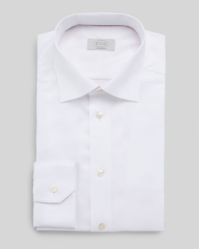 Eton Contemporary-Fit Calvary Twill Dress Shirt, White