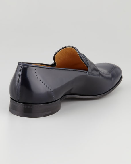 Perforated Apron-Toe Penny Loafer