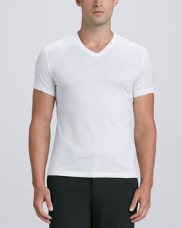 Ralph Lauren Black Label Short-Sleeve V-Neck Jersey Tee