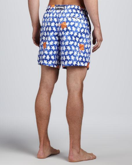 Embroidered Stingray Motu Swim Trunks