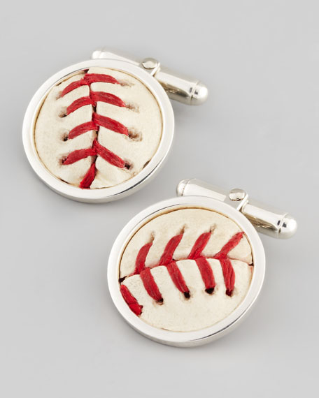 Authentic Chicago Cubs Baseball Cuff Links