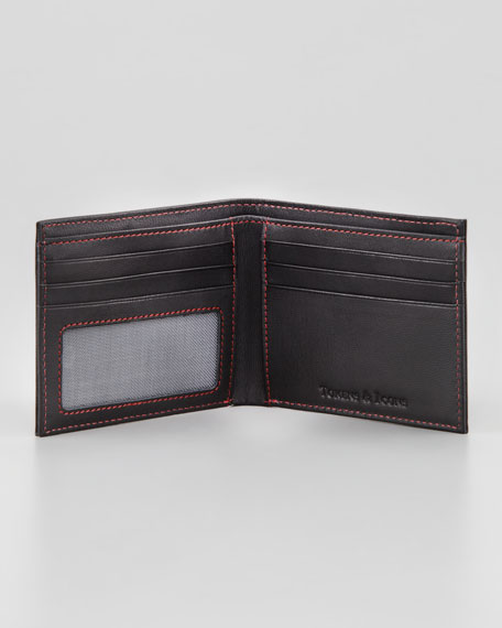 Chicago Blackhawks Game Used Jersey Leather Wallet