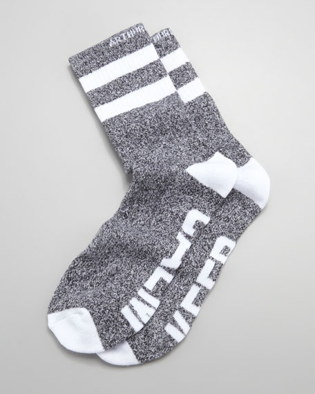 Keep Calm Men's Socks, Black/White