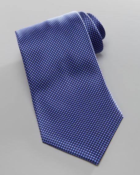 Tonal-Bubble Silk Tie, Navy