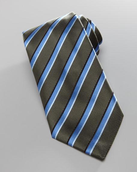 Shadow Striped Satin Tie,