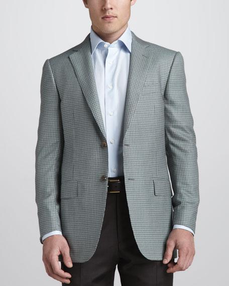 Check Cashmere Sport Coat, Olive