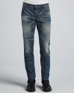 Dolce & Gabbana Dirty Rip Wash Jeans