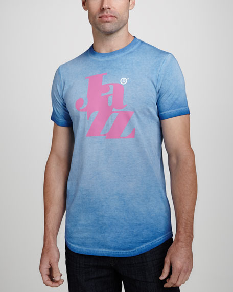 Washed Jazz Jersey Tee, Blue