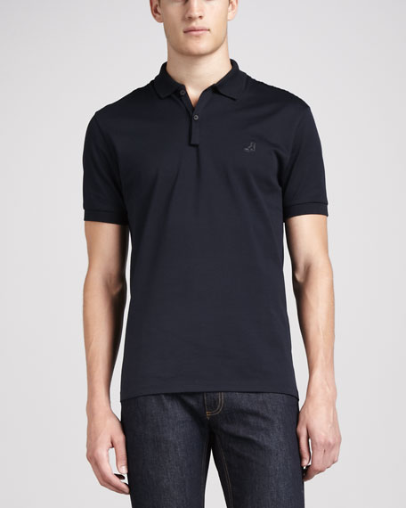 Short-Sleeve Sneaker Polo, Midnight