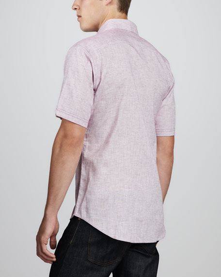 Korb Short-Sleeve Linen/Cotton Camp Shirt