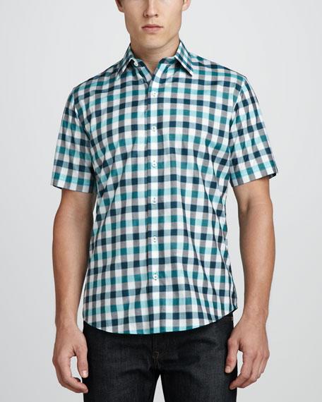 Minamoto Short-Sleeve Check Shirt