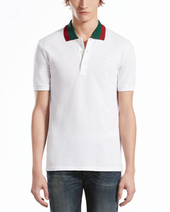 Sale alerts for Gucci Pique Polo with Green/Red Collar - Covvet